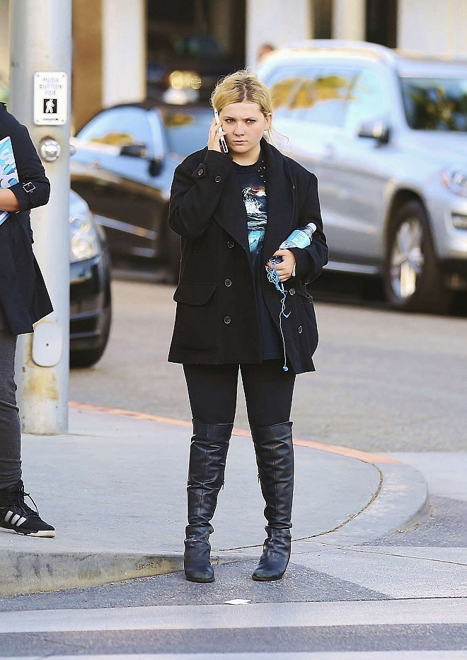Abigail Breslin out in Beverly Hills