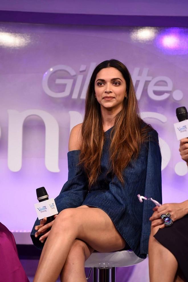 Deepika Padukone Displays Her Long Sexy Legs At The launch of Gillette Venus Breeze, in Mumbai